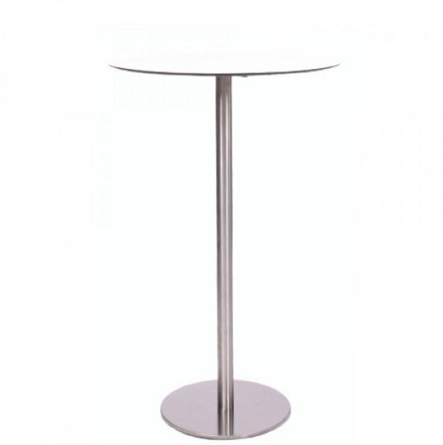 HPL-Kompakt-Tischplatte 10 mm, ø 69 cm weiß