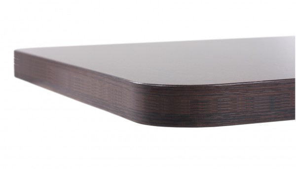 Tischplatte Laminat (HPL) abgerundet - 40 mm stark