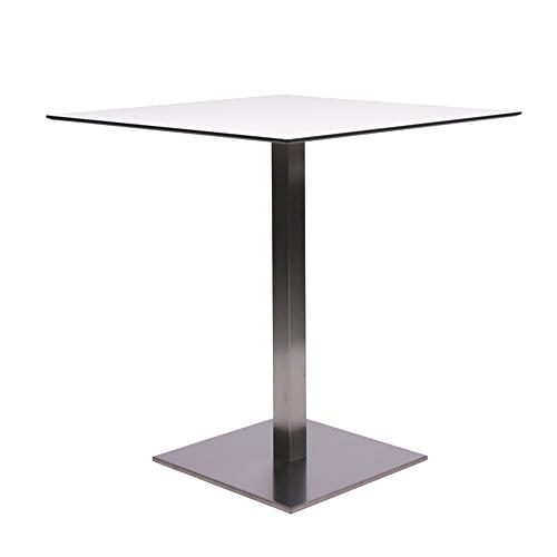 HPL-Kompakt-Tischplatte 10 mm, 69 x 69 cm weiß