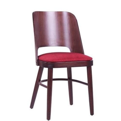 Bistrostuhl PIA mit gepolstertem Sitz- nussbaun dunkel
