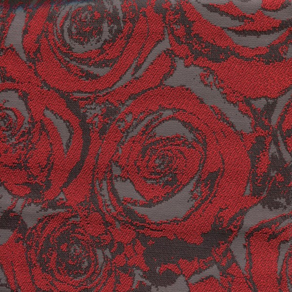 Stoff mit Rosenmotiven ARN441 SafeTex rot-grau