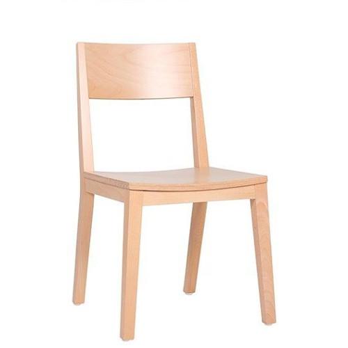 moderner Bistrostuhl mit Holzsitz in vielen Farben