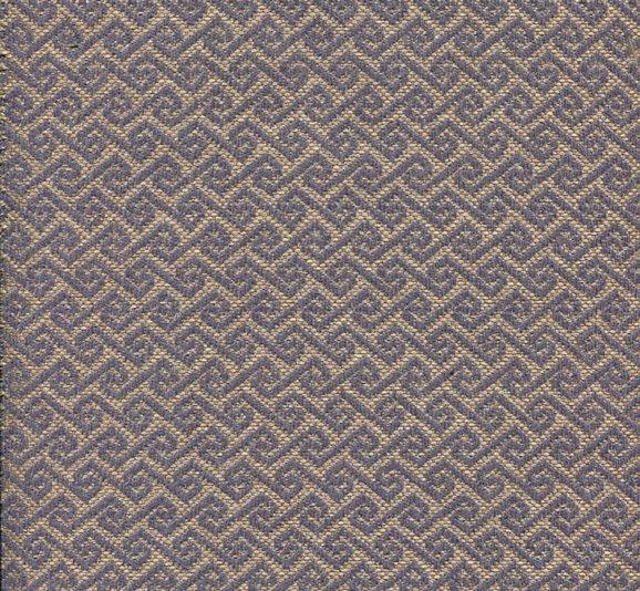 Möbelstoff MAYA57 blau-beige mit trendigem Rauten-Muster