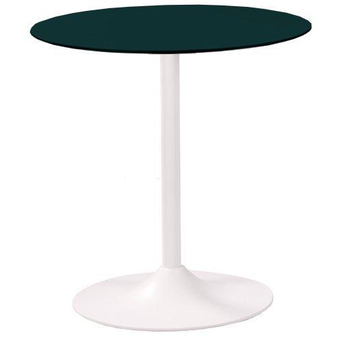 Tisch MATRIX mit einer HPL-Kompakt-Tischplatte 10 mm, Ø 69 cm schwarz (TPHPL10-D69-sw)