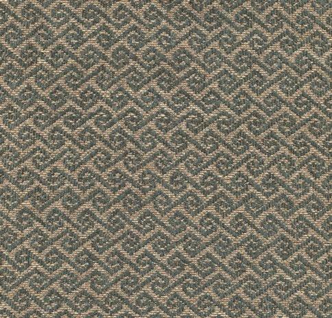 Möbelstoff MAYA38 grün-beige mit trendigem Rauten-Muster