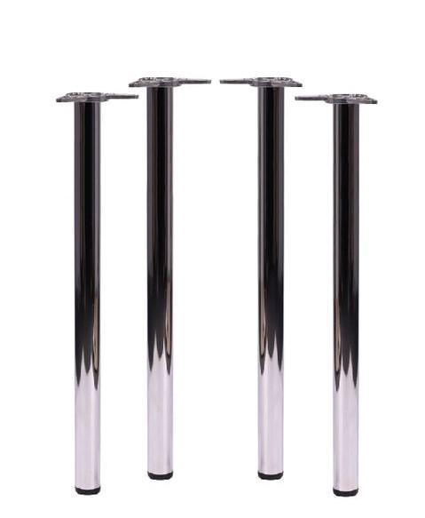 Stehtischbeine TG4 mit Befestigungsplatten für Montage an Tischplatten