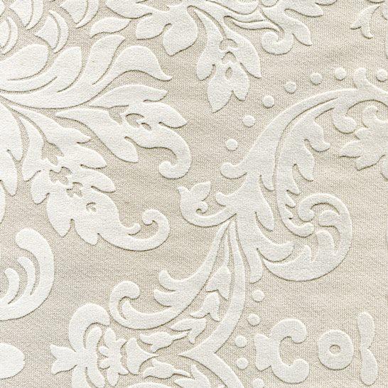 Stoff mit floralen Ornamenten BD04 beige