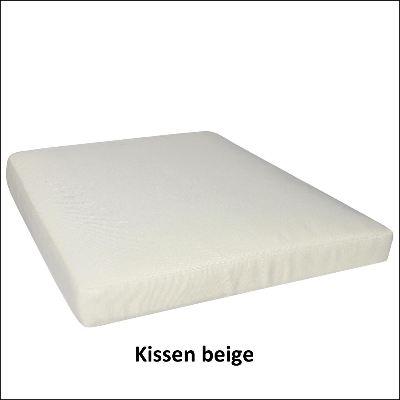 Sitzkissen (lose) beige, 5 cm stark