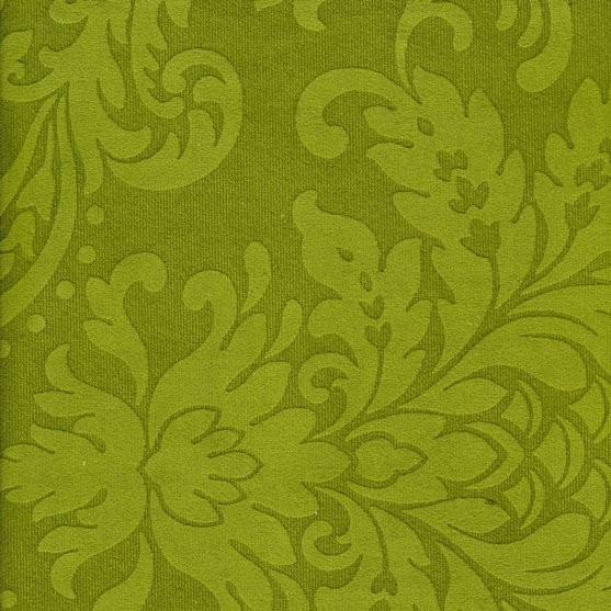 Stoff mit floralen Ornamenten BD38 grün