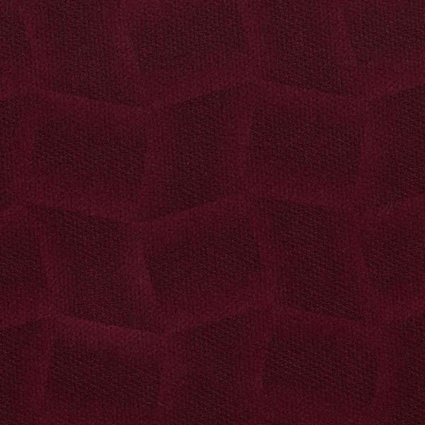 Mikrofaser-Stoff mit attraktiven geometrischen Mustern weinrot