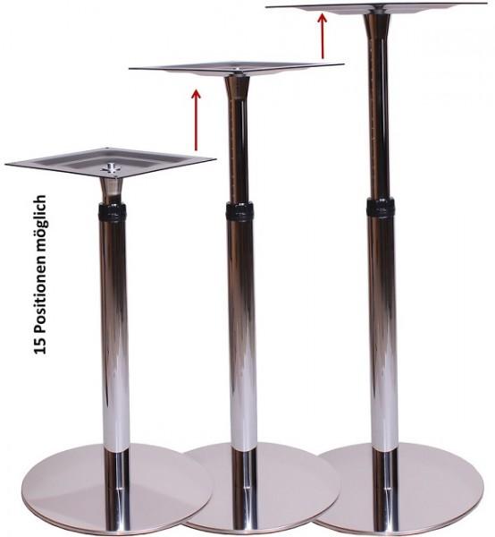 höhenverstellbare Tischgestelle Stehtischgestelle BARI   Tisch Metalltisch Stehtisch höhenverstellbar