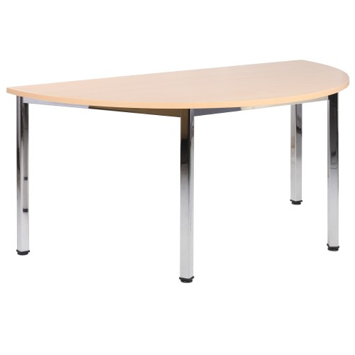 Konferenztisch halbrund NOVARO 160 x 80 cm