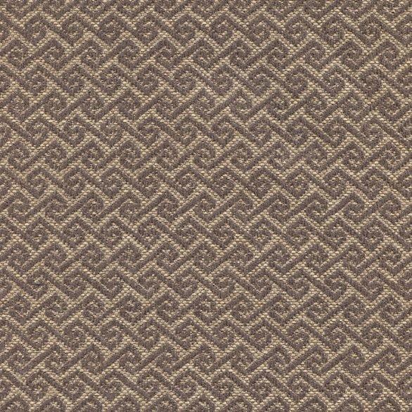 Stoff mit Rauten-Muster MAYA46 dunkelbraun-beige