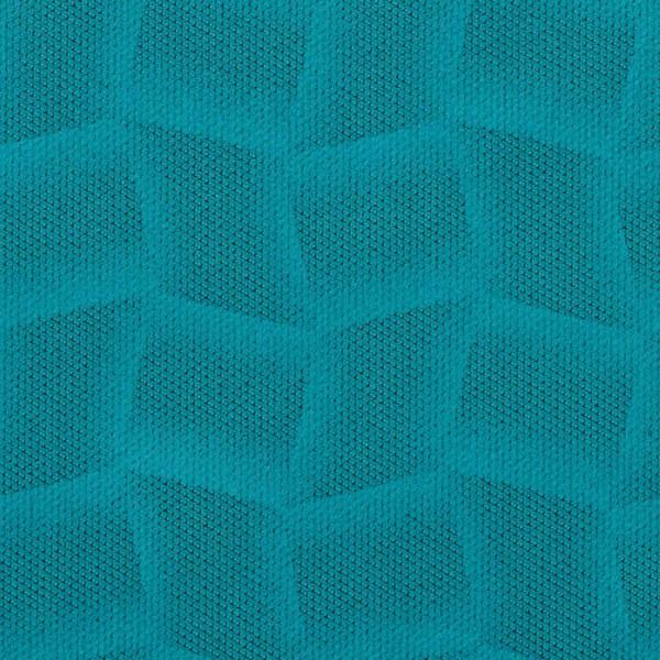 Mikrofaser-Stoff mit attraktiven geometrischen Mustern türkis