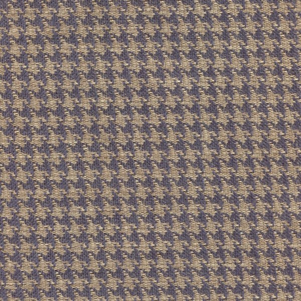 Polsterstoff mit klassischem Pepita-Muster PEP57 blau-beige