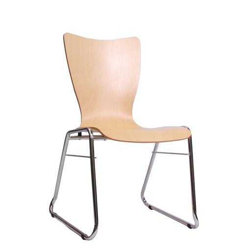 Holzschalenstuhl / Stapelstuhl COMBISIT C30 ohne Sitz- und Rückenpolster