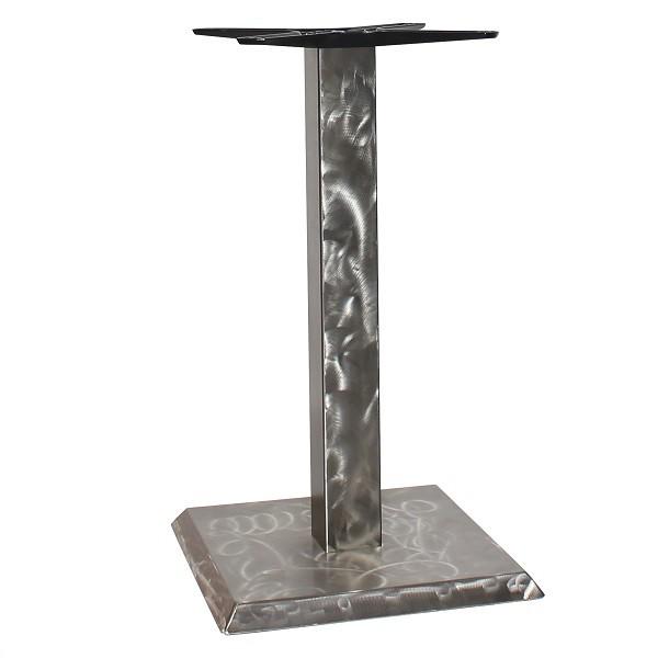 Modernes Bistro Tischgestell ROVETO IX S - Edelstahl gebürstet