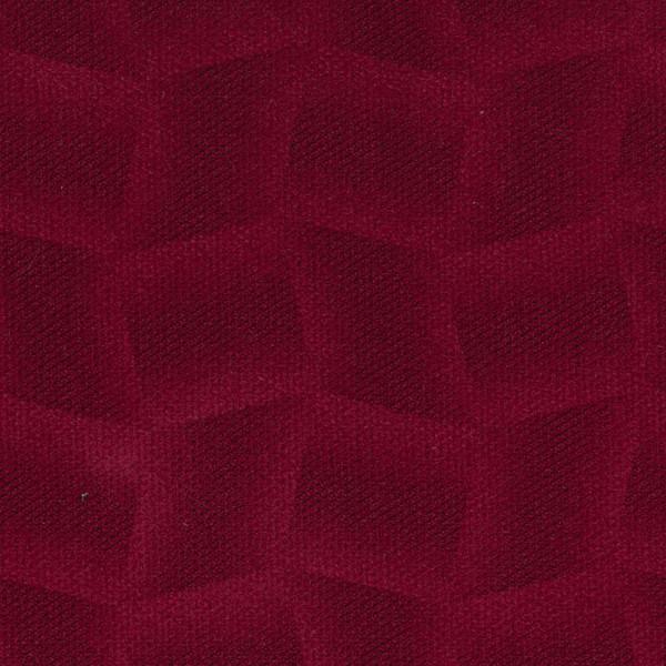 Mikrofaser-Stoff mit attraktiven geometrischen Mustern rot