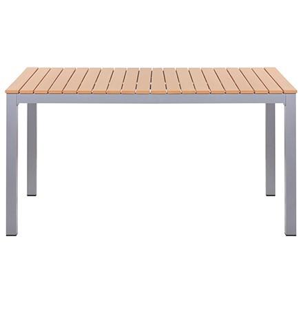 Outdoor-Tisch LUNO 138 mit Kunststoffleisten in Teakholzoptik