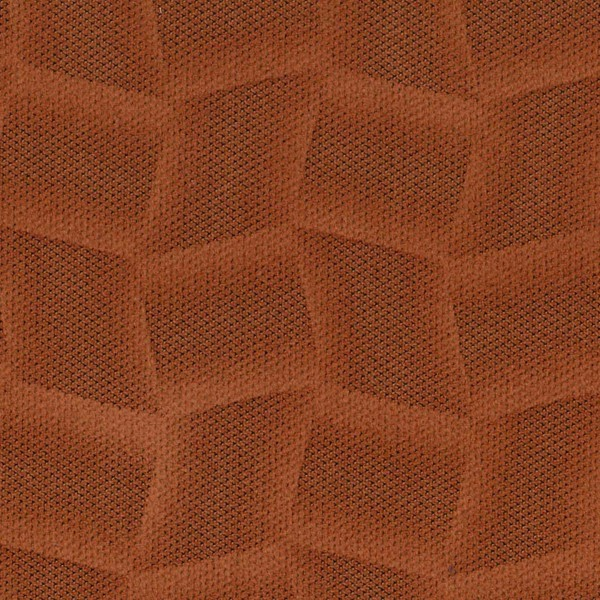 Mikrofaser-Möbelstoff mit attraktiven geometrischen Mustern terrakotta