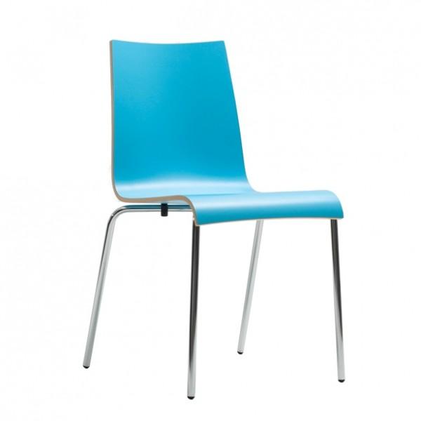 Stuhl ROMAN HPL - stapelbar französischblau