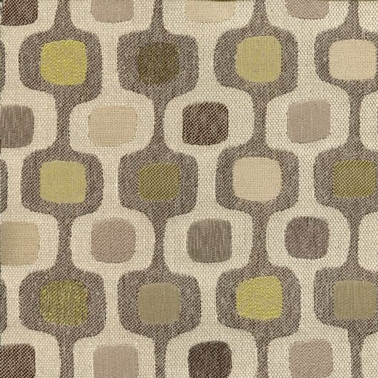 Stoff im Retro-Design DRO38 beige/grün