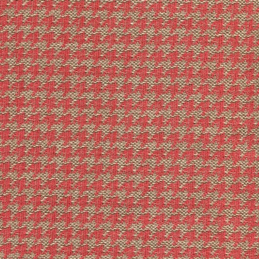 Polsterstoff mit klassischem Pepita-Muster PEP39 beige-rot