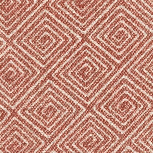 Stoff mit Rauten-Muster SA703 braunrot
