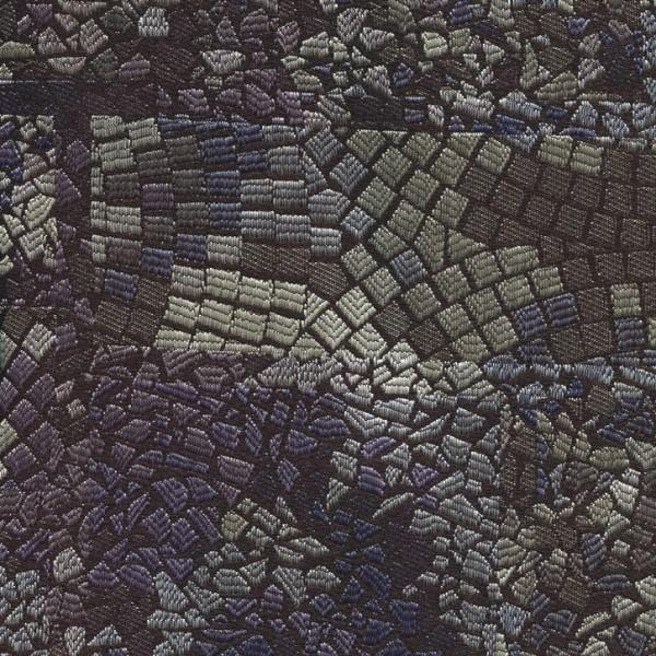 Stoff mit Mosaikmuster blau/violett/grau
