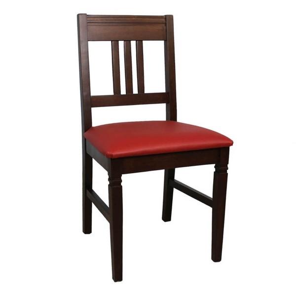 Massivholzstuhl Bistrostuhl MARTIN P mit gepolstertem Sitz