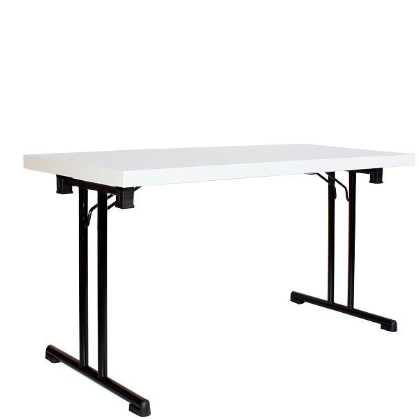 Klapptisch MTS 44 mit schwarzem Gestell und melaminharzbeschichtete Tischplatte