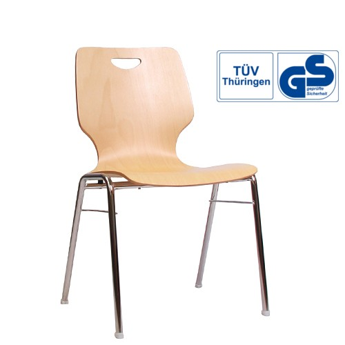 Holzschalenstuhl / Stapelstuhl COMBISIT A20G