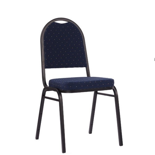 Praktische Stapelstuhl BANKETT 150 in blau mit goldenen Punkte