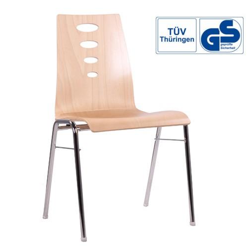 Holzschalenstuhl / Stapelstuhl COMBISIT A50