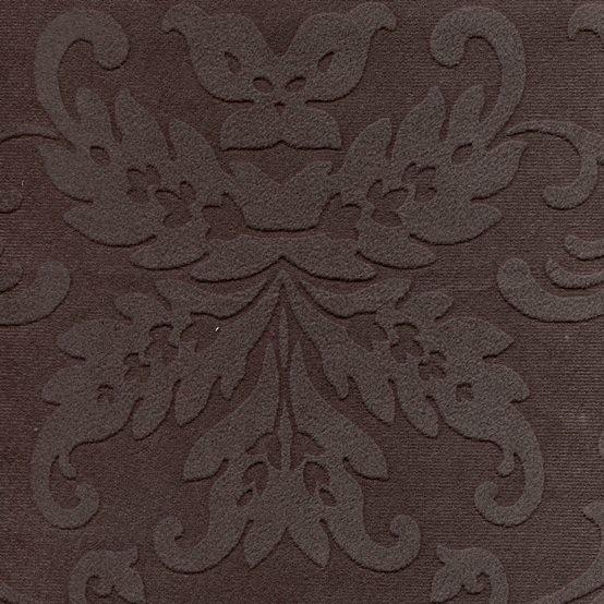 Ornamentstoff mit Fleckschutz Umbragrau
