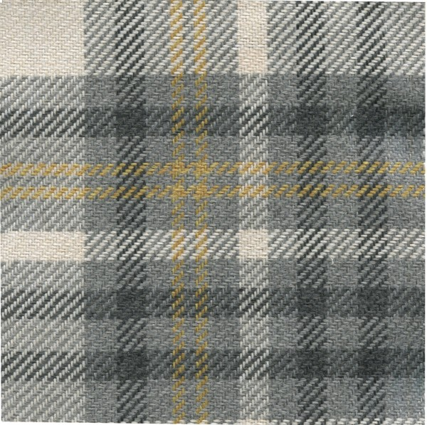 Möbelbezug Karostoff | Polsterstoff mit Karo Muster SCT01 grau-mustard