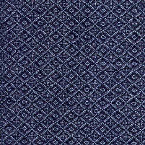 Polsterstoff SR700-blau in Ripsoptik mit feinem Rauten-Muster