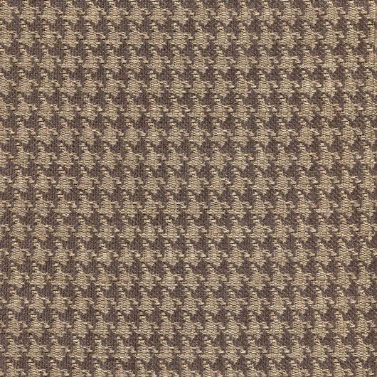 Stoff mit Pepita-Muster PEP46 beige-dunkelbraun-Copy