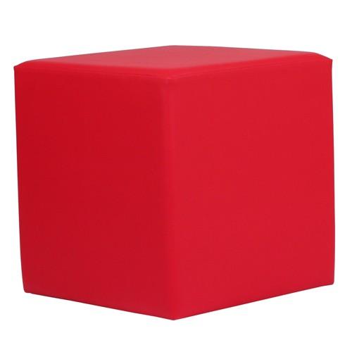 Sitzwürfel rot in KUBIX Form (45x45 cm) gepolstert
