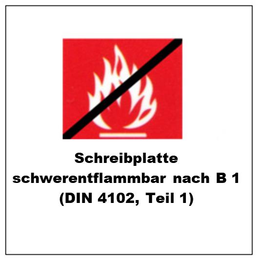 Lackierung nach B1 (DIN 4102, Teil 1)