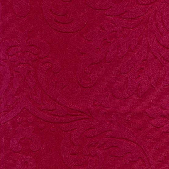 Möbelstoff mit Ornamenten und Fleckschutz magenta