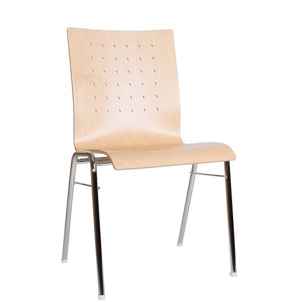 ergonomischer und stabiler Stapelstuhl | Holzschalenstuhl COMBISIT A48