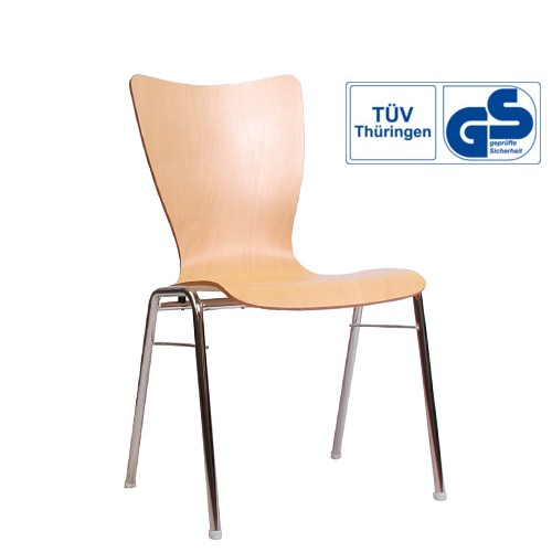Holzschalenstuhl / Stapelstuhl COMBISIT A30 ohne Sitz- und Rückenpolster