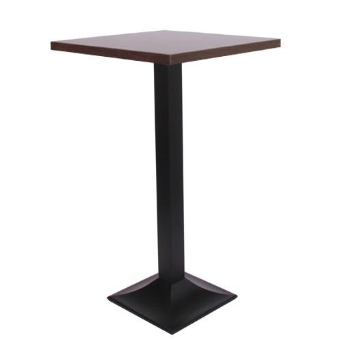 Stehtisch TIVOLI H mit MDF-Tischplatte 30 mm stark, nussbaun dunkel