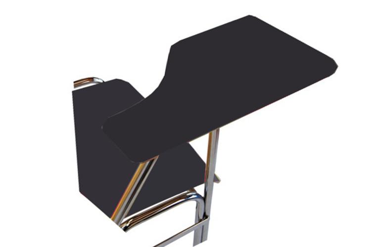 Schreibplatte mit HPL-Laminatfurnier (11 mm stark) graphitschwarz