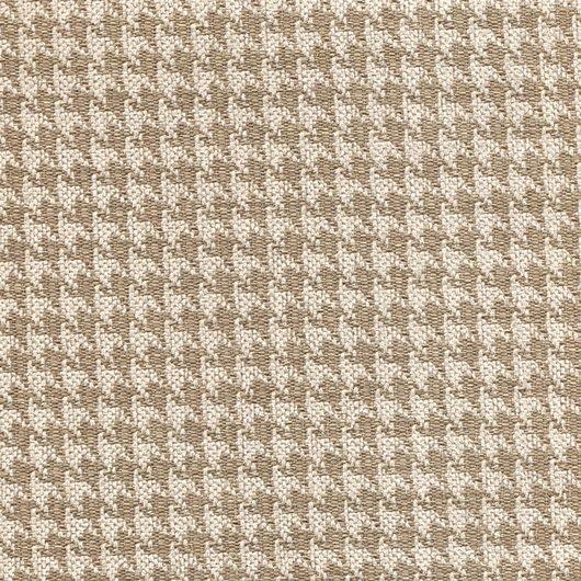 Polsterstoff mit klassischem Pepita-Muster PEP14 beige-braun