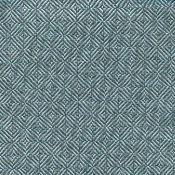 Stoff mit Rauten-Muster DUB04 türkis-beige