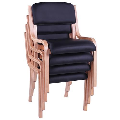 Besucherstuhl Konferenzstuhl JANA aus gebogenem Buche-Schichtholz