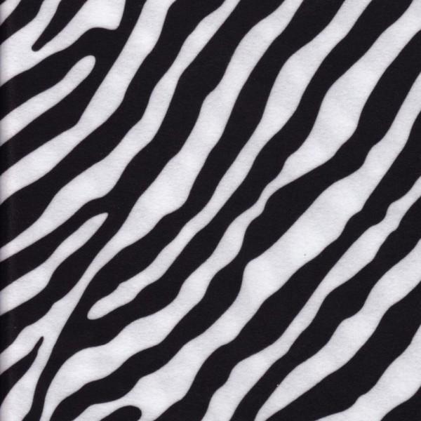 Stoff mit Tierfell-Imitat Zebra