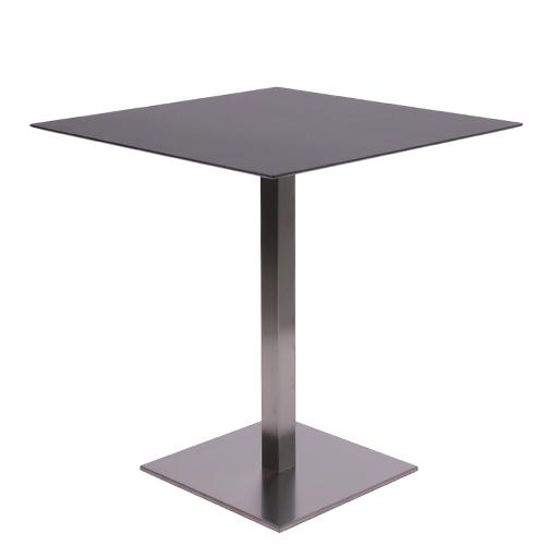 HPL-Kompakt-Tischplatte 10 mm, 69 x 69 cm, schwarz